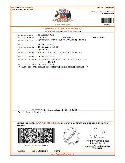 Certificado de nacimiento online el blog de opcionis en for Acta familiar