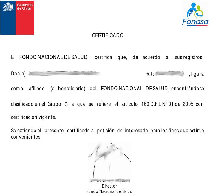 El certificado fonasa muestra en qué tramo se encuentra el beneficiario
