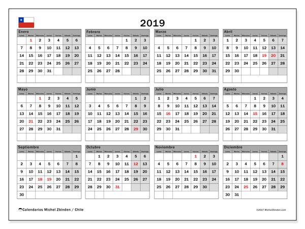 Calendario Marzo 2020 Chile.Calendario Escolar Chile 2019 El Blog De Opcionis En Chile